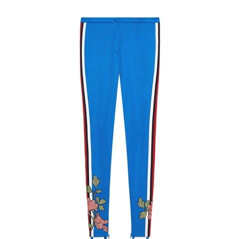 Embroidered Jersey Stirrup Legging