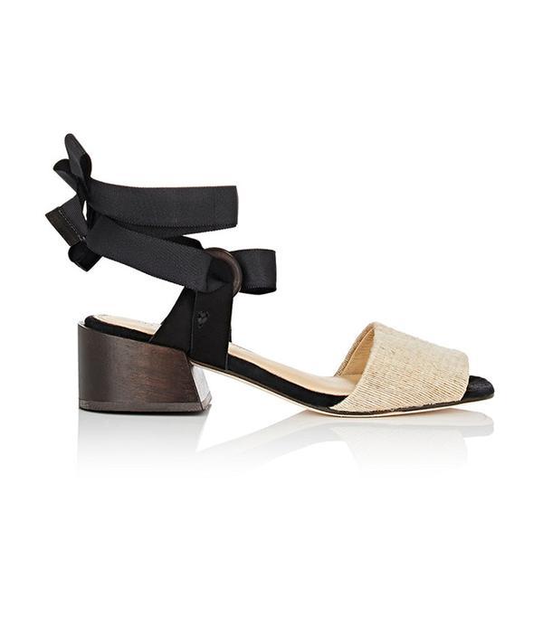 MARI GIUDICELLI Canna Raffia & Nubuck Sandals
