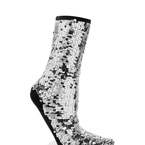 Sequined Knitted Socks