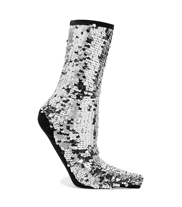 OFF-WHITE Sequined knitted socks