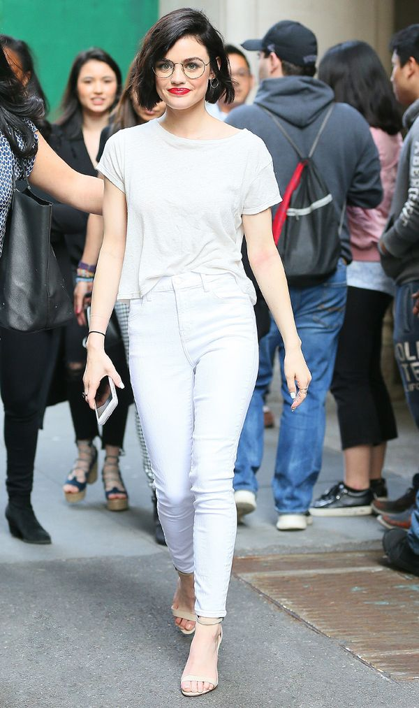 lucy hale skinny jeans outfit