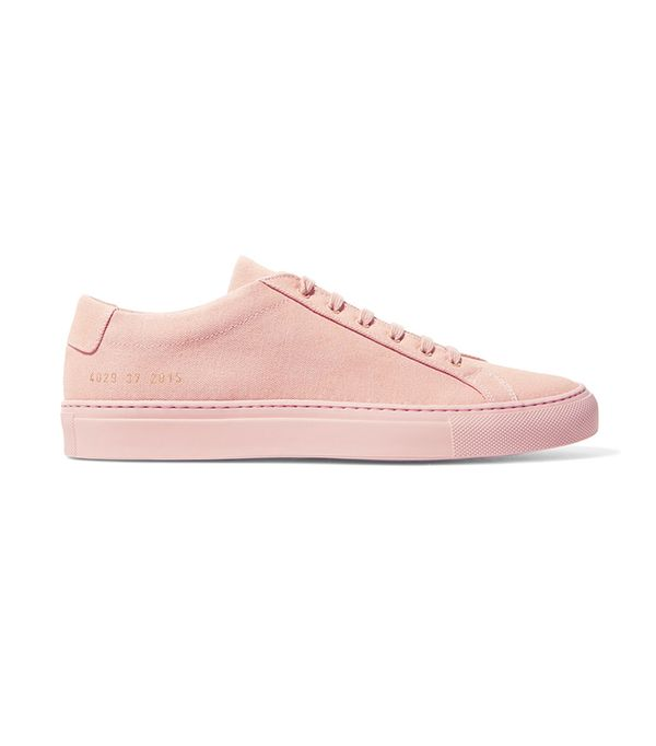best pink sneakers- common projects