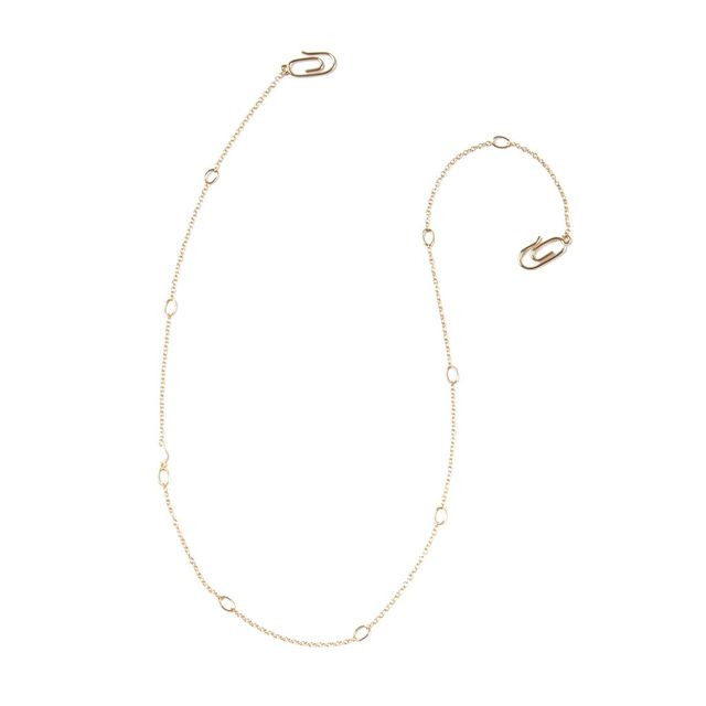 Paperclip gold necklace - Pop & Suki Paperclip Chain