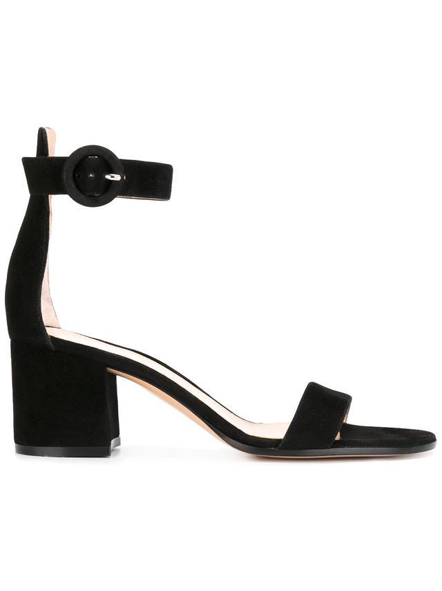 black ankle strap sandals - Gianvito Rossi Versilia Sandals