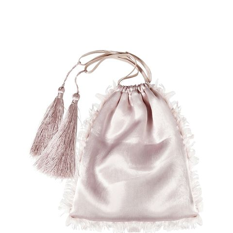 Frayed Satin Pouch