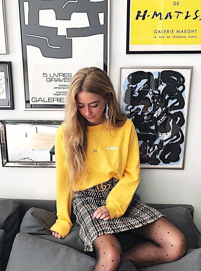 fast fashion instagram account - vero moda sweatshirt