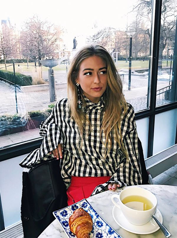 fast fashion instagram account - topshop gingham shirt