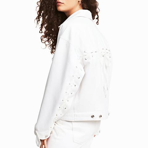 Denim Jacket With Lacing