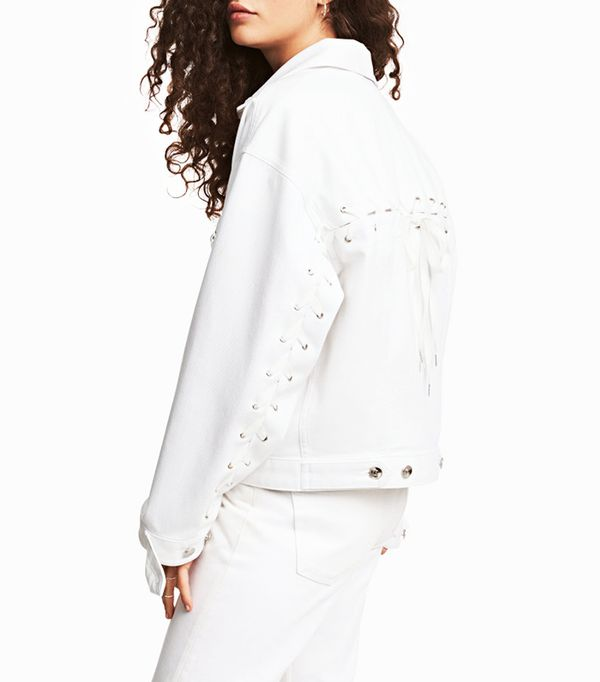 H&M Denim Jacket with Lacing