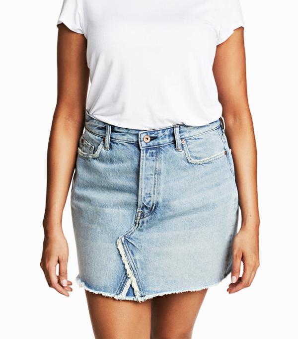 H&M+ Denim Skirt