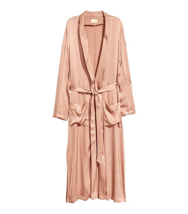 H&M Long Satin Coat