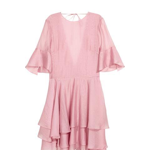 Lyocell-Blend Tiered Dress