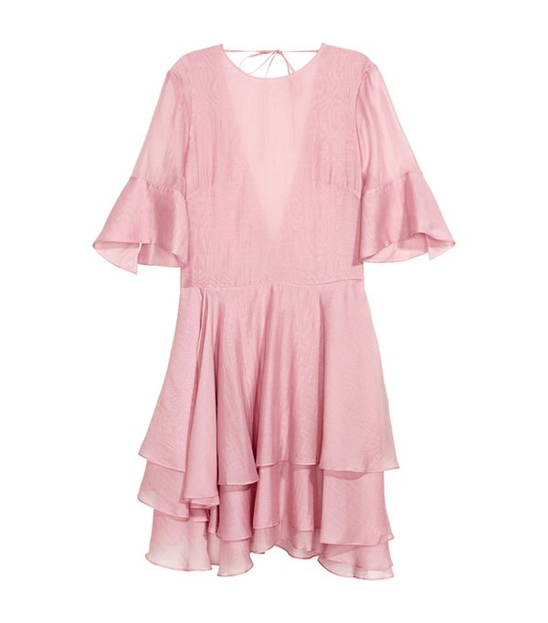 H&M Lyocell-Blend Tiered Dress