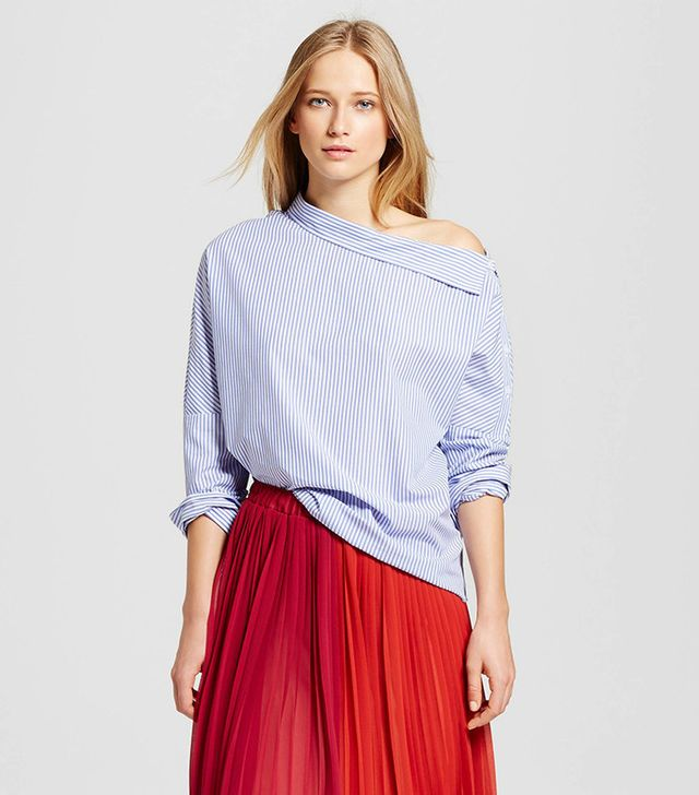 Who What Wear  Shoulder Button Top