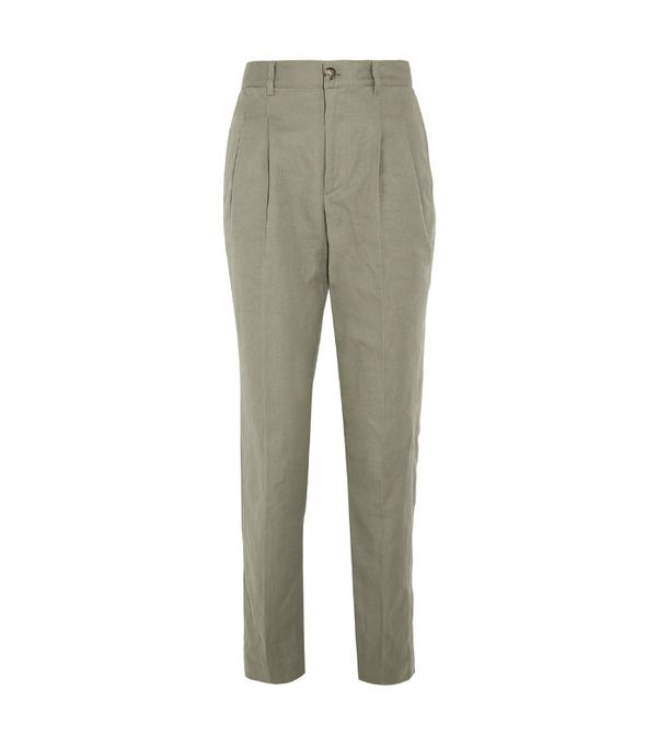 green pants outfits - A.P.C. Atelier de Production et de Création Lena Pants