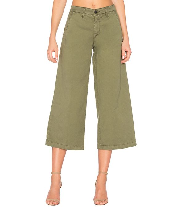 green pants outfits - Baldwin Devin Crop Trouser