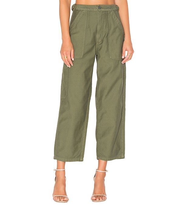green pants outfits - Citizens of Humanity Kendall Wide Leg