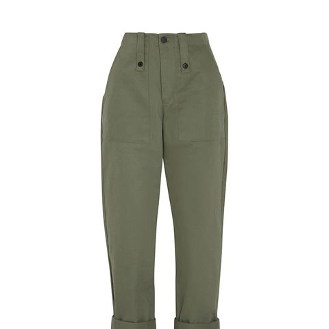 Cotton-Canvas Pants