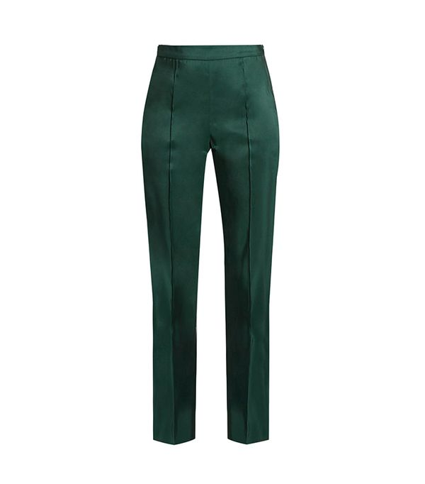 green pant outfits - Rosie Assoulin Oboe Trousers