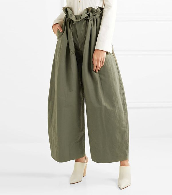 green pant outfits -  Stella McCartney Twill Pants