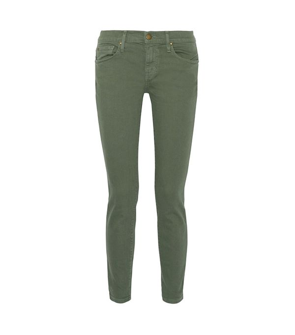 green pant outfits -  The Great Skinny Skinny Jeans