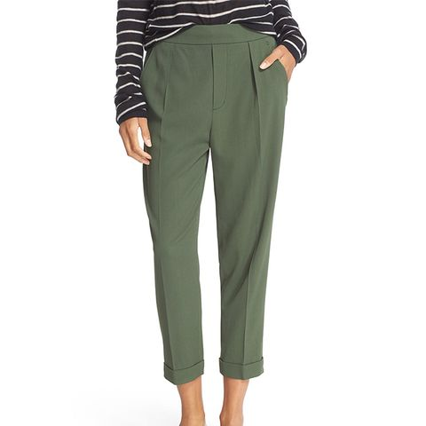 Pull-On Tapered Crop Trousers