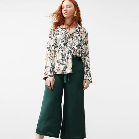 Satin Crop Trousers