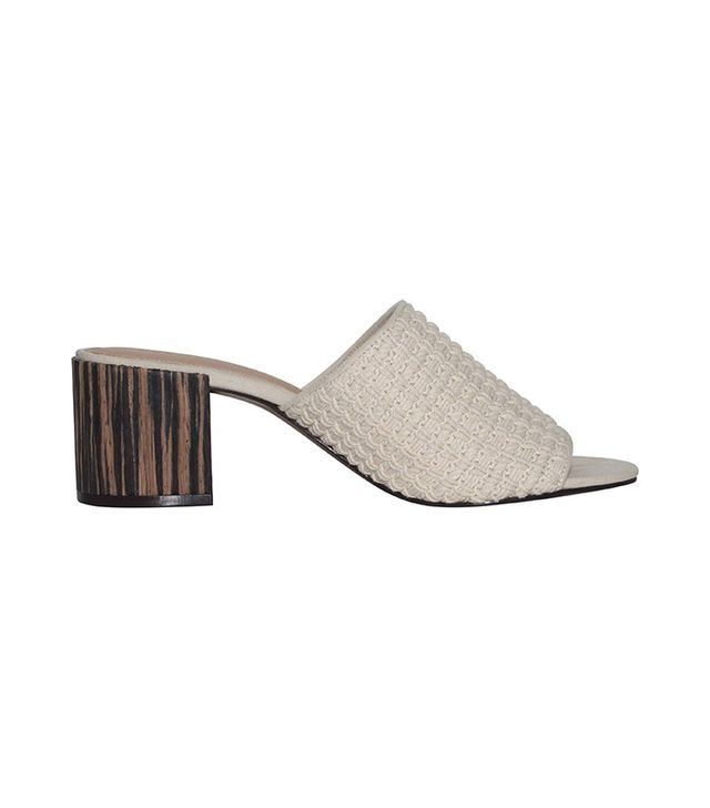 Who What Wear Felicity Macrame Strap Block Heel Slide