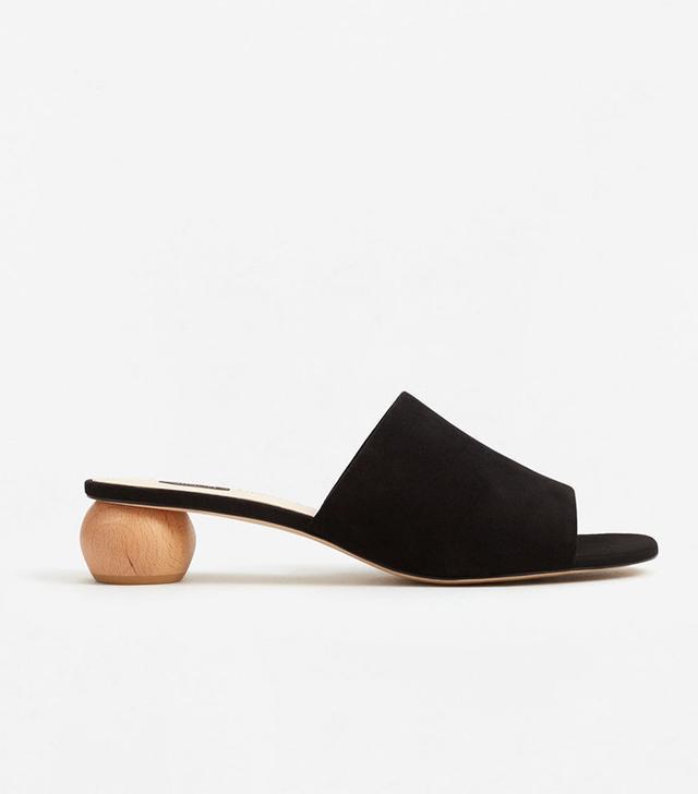 Mango Wooden Leather Sandals