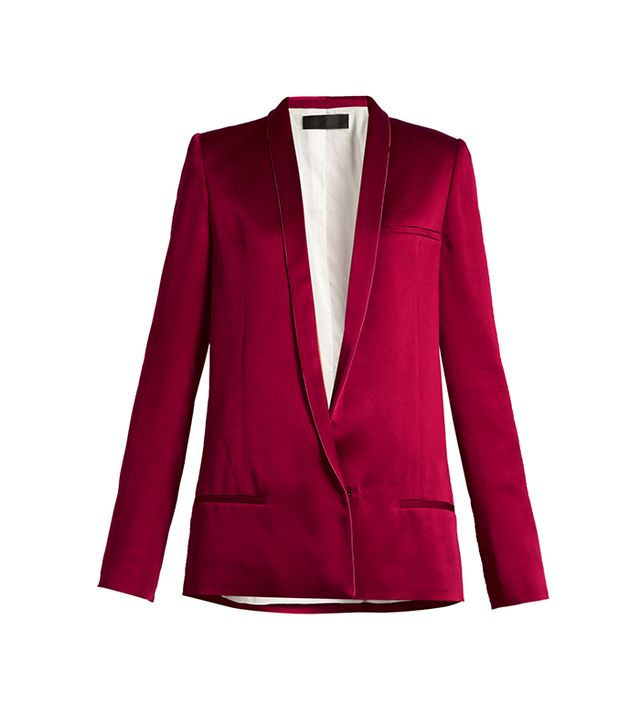 Haider Ackerman Kuiper Shawl-Lapel Satin Jacket