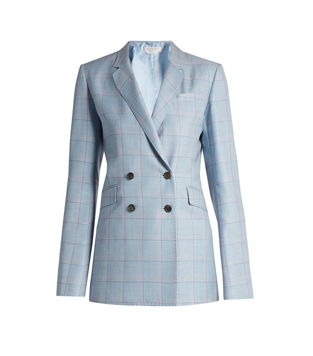 Themis Checked Silk and Wool-blend Jacket