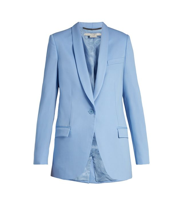 Rose Shawl-lapel Wool Blazer