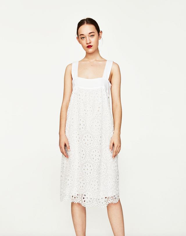 Lauren Conrad Zara items - white dress