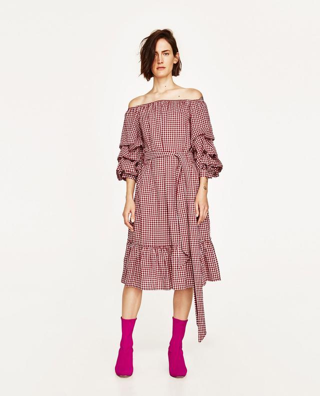 Zara gingham skirt