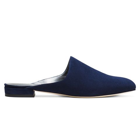 Mulearky Slides in Suede Blue