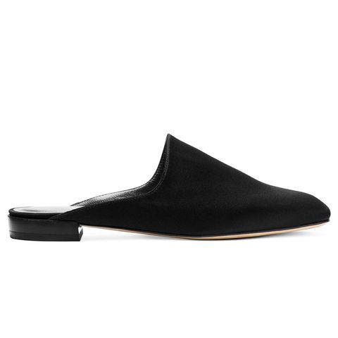 Mulearky Slides in Satin Black