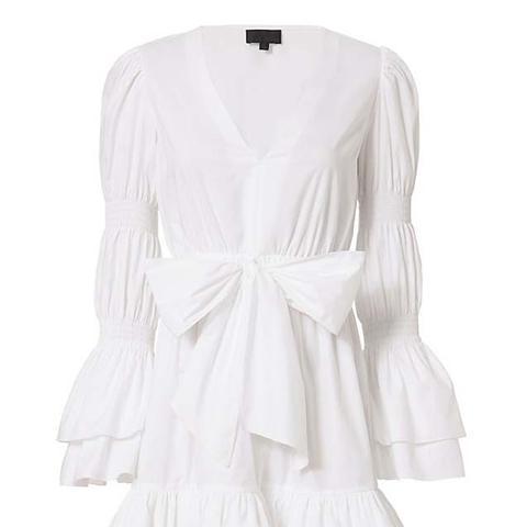 Bennet White Poplin Dress