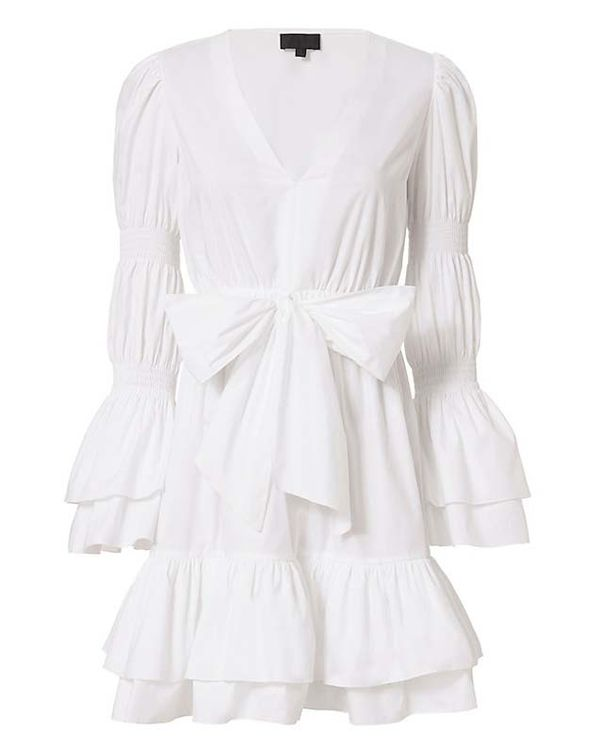 Exclusive for Intermix Bennet White Poplin Dress