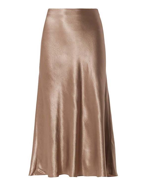 Vince Satin Midi Flare Skirt