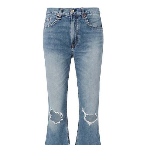 Carls Vintage Crop Flare Jeans