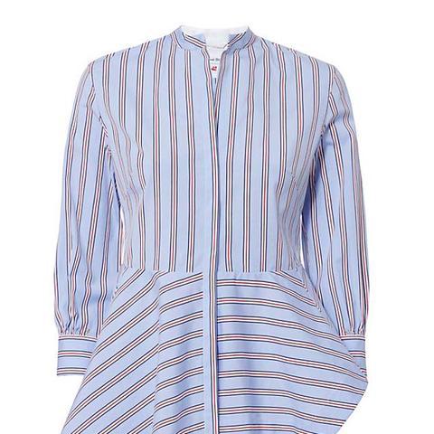 Pettegole Asymmetrical Hem Stripe Shirt