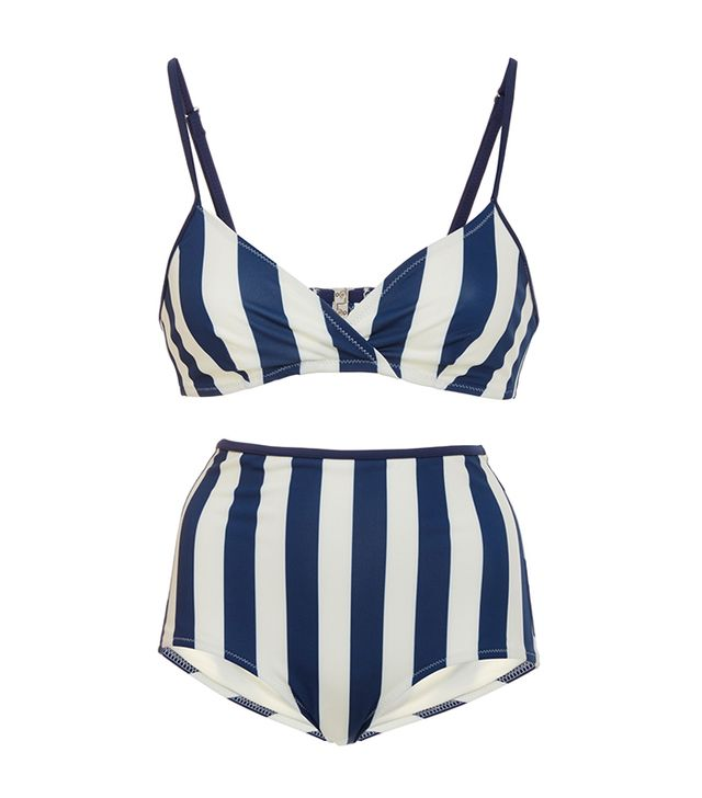 most flattering two-piece swimsuit