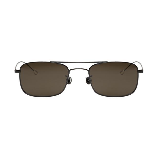 Ann Demeulemeester Black Rectangular Sunglasses