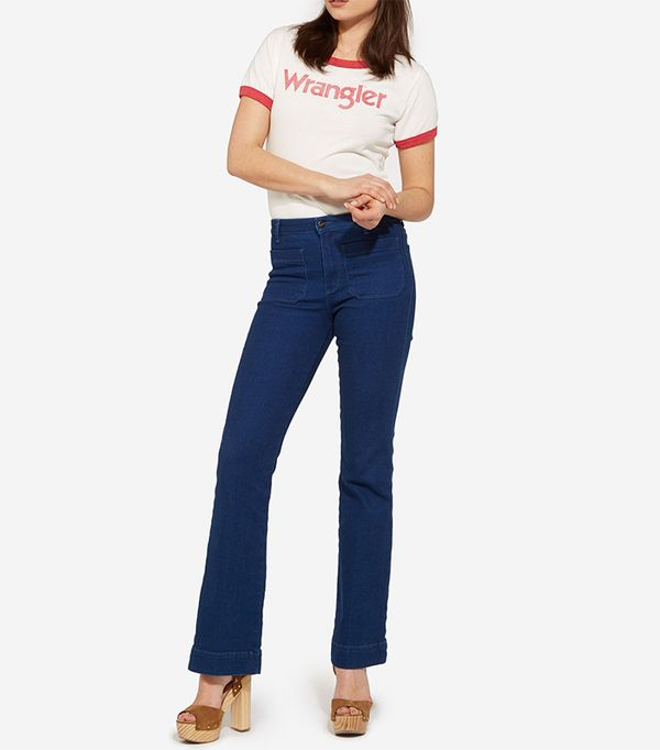 French girl style - Wrangler Flare Jeans