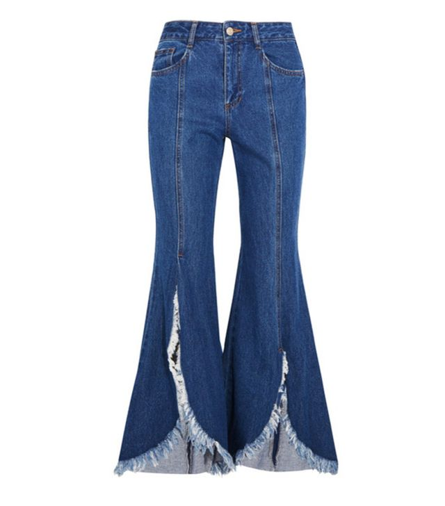 SJYP jeans Frayed mid-rise jeans