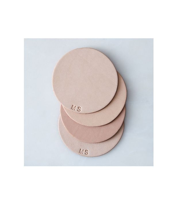 Food52 Monogram Leather Coasters