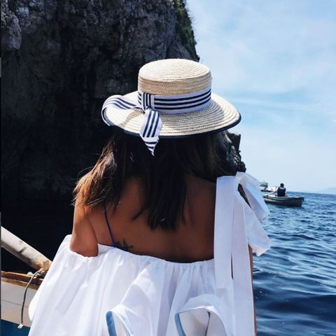 French Riviera style: Straw hat