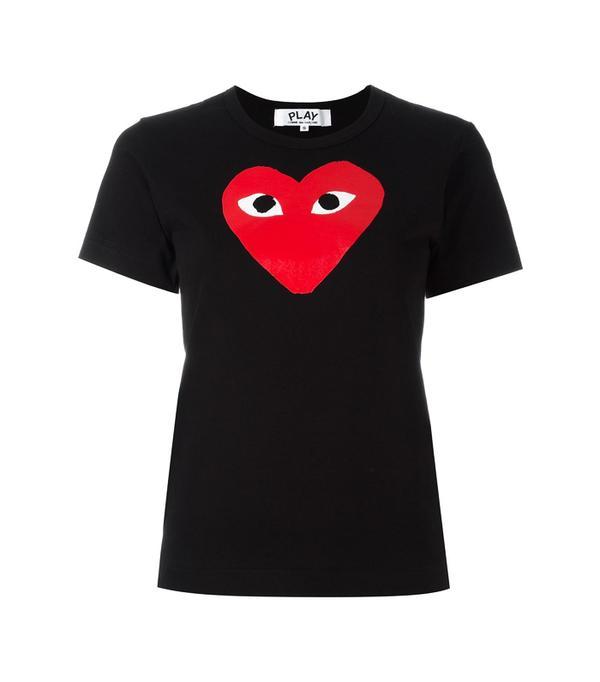 Commes des Garçons Play: Commes des Garçons Play Heart Print T-shirt