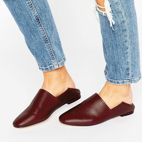 Rubey Mule Leather Flat Shoes