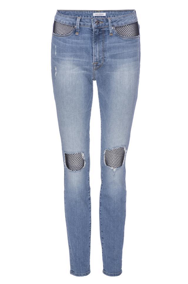 Good American Good Legs Fishnet Jeans
